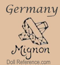 Felix Arena doll mark Germany symbol Mignon