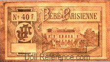 Bébé Parisienne doll box label