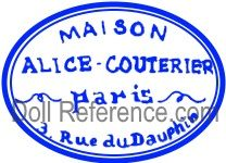 Aux enfants de France doll & toy store Alice Couterier 3 Rue du Dauphin label
