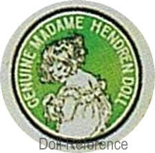 Madame Hendren doll mark (Averill) label