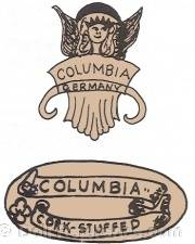 CM Bergmann doll mark label Columbia