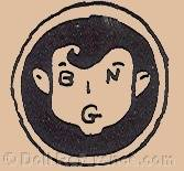 Bing Brothers doll mark face symbol BING initials