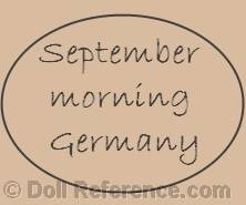 Grace G. Wiederseim Drayton doll mark September Morning Germany