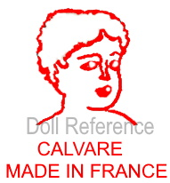 Calvare cloth art dolls mark symbol ladies head Calvare Made in France