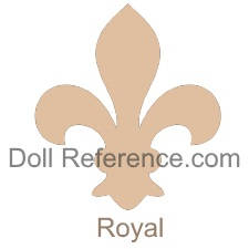 Celluloid doll mark Fleur de Lis symbol Royal Japan