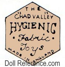 Chad Valley doll mark Hygienic Fabric Toys label