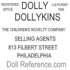 Children's Novelty Company doll mark DOLLY, DOLLYKINS