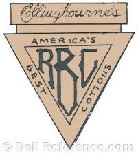 Collingbourne doll mark RBC America's Best Cottons