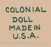 Colonial Toy doll mark