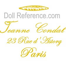 Jeanne Condat doll milliner hats & bonnets mark label