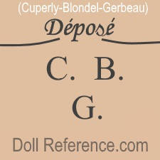 Cuperly, Blondel, Gerbeau toys & dinner services mark C.B.G.