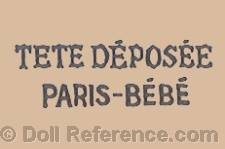 Danel & Cie doll mark Tete D�pos�e Paris-Bebe