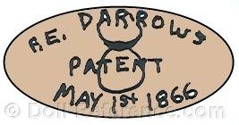 RE Darrows doll mark patent May 1st, 1866