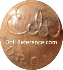 Erich Dittmann celluloid doll mark Edi DRGM