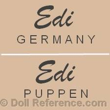 Erich Dittmann dill mark Edi Germany Puppen