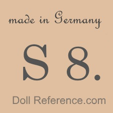 Cuno & Otto Dressel doll mark Made in Germany S 8.