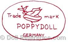 Cuno & Otto Dressel doll mark Trademark Poppy Doll Germany