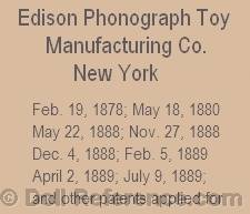 Thomas Alva Edison doll mark