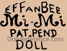 Effanbee Mi-Mi doll mark Pat. Pend Doll
