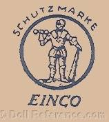 Eisenmann doll trade mark Schutzmarke a man standing inside a circle EINCO