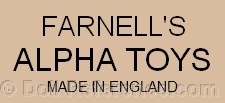 Farnell's doll mark Alpha Toys Made in England
