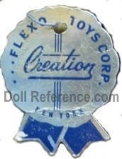 Flexo Toys Corporation doll mark tag