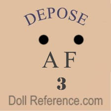 A.F. doll mark French (possibly Adolf Fleischmann)
