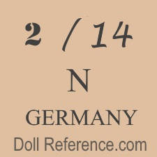 German doll mark 2 / 14 N Germany