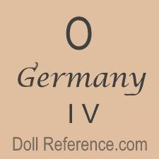 German doll mark O Germany IV