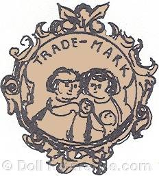 Carl Geyer doll mark symbol of children in fancy cartouche