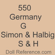 Gimbel Bros. doll mark 550 Germany G S & H