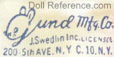 Gund Manufacturing Company doll mark label