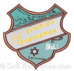 Heinrich Handwerck doll trade mark  label found on Bebe Cosmopolite, Bebe Recalame, Bebe Superior boxes