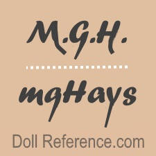 Margaret Gebbie Hays doll mark MGH