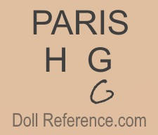 Paris H.G. doll mark, on bisque heads, on bottom boots