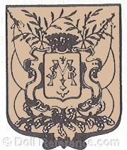 Edmond Hieulle doll mark MSB intertwined on coat of arms shield