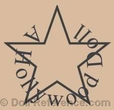 Hollywood Doll Company doll mark star symbol Hollywood doll