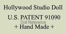 Hollywood Studio Doll mark U.S. Patent 91090  Handmade label