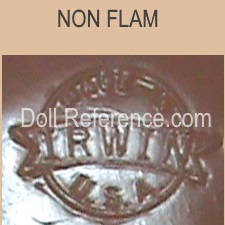 Irwin & Company doll mark Non-Flam circle Irwin made in USA