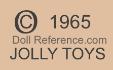 Jolly Toys doll mark copyright 1965 Jolly Toys