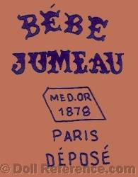 1878+ Jumeau doll shoe mark Bébe Jumeau MED. OR 1878 Paris Depose
