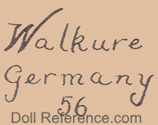 Kley & Hahn doll mark Walkure Germany 56