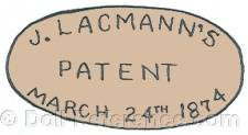 Jacob Lacmann doll mark patent March 24th, 1874
