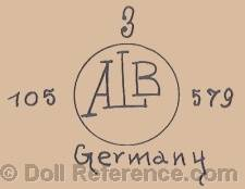 Adolf Landsberger doll mark ALB inside circle 105 579