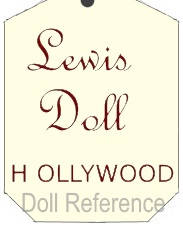 Lewis Doll of Hollywood doll mark tag