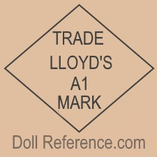 Lloyd Manufacturing doll mark Trade Lloyd's A1 Mark