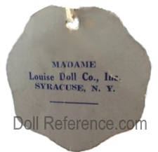 Madame Louise Doll Company, Inc. doll mark label Syracuse, NY
