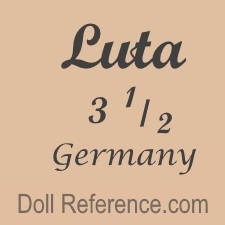Eg. Mich Ernst Luthardt doll mark Luta 3 1/2 Germany