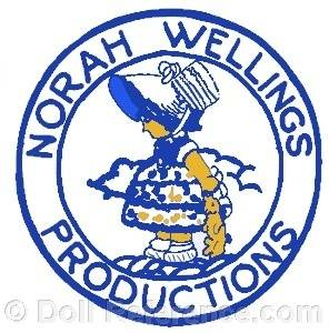 Norah Wellings Productions doll mark label