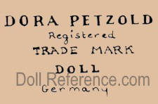 Dr. Dora Petzold doll mark stamp Registered Trade Mark Doll Germany